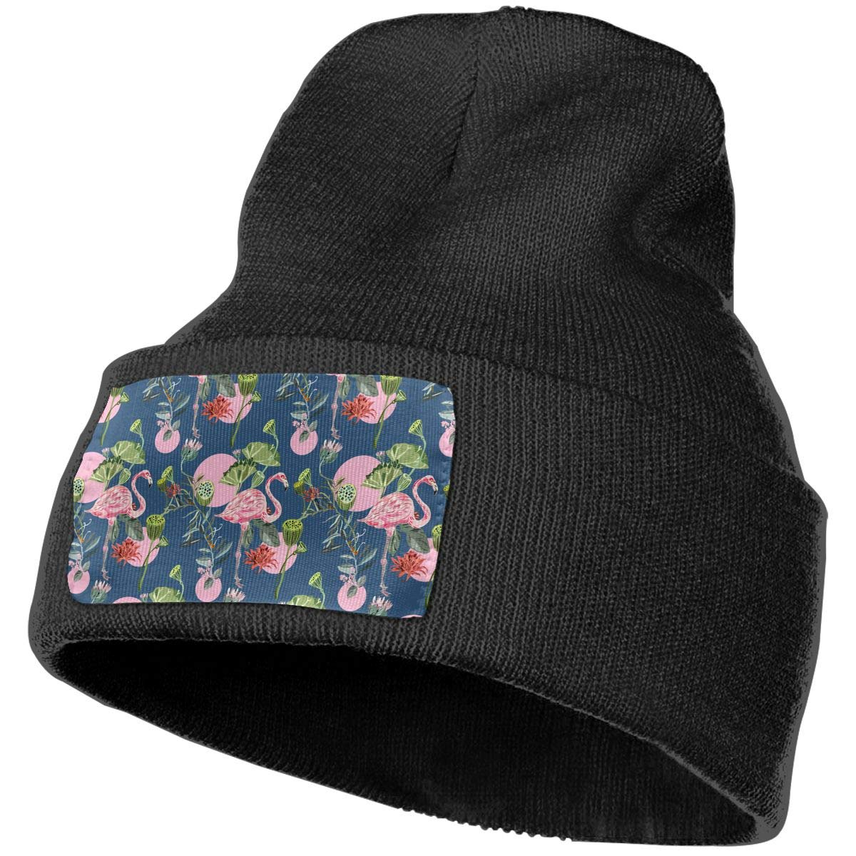 Tropical Flamingos Unisex Fashion Knitted Hat Luxury Hip-Hop Cap