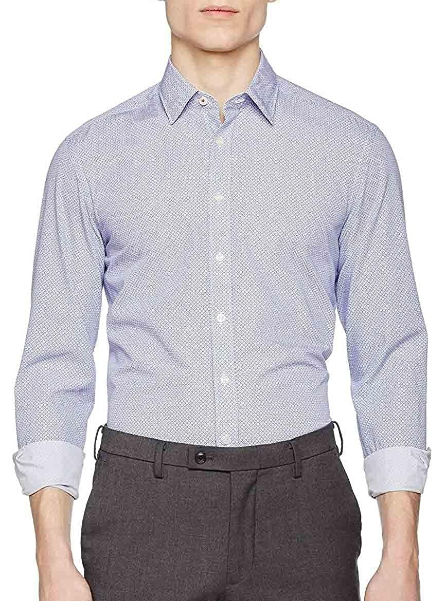 TALLA S. Hackett London Cross HTC Dot Pri Camisa para Hombre