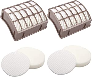 JJSS 2 Pack Hepa & Foam & Felt Filters Replacement for Shark Navigator Professional NV60, NV70, NV70 26, NV71, NV80, NV80 26, NVC80C, NV90, NV95, UV420 Vacuums. Compare to Part # XFF80 & XHF80.