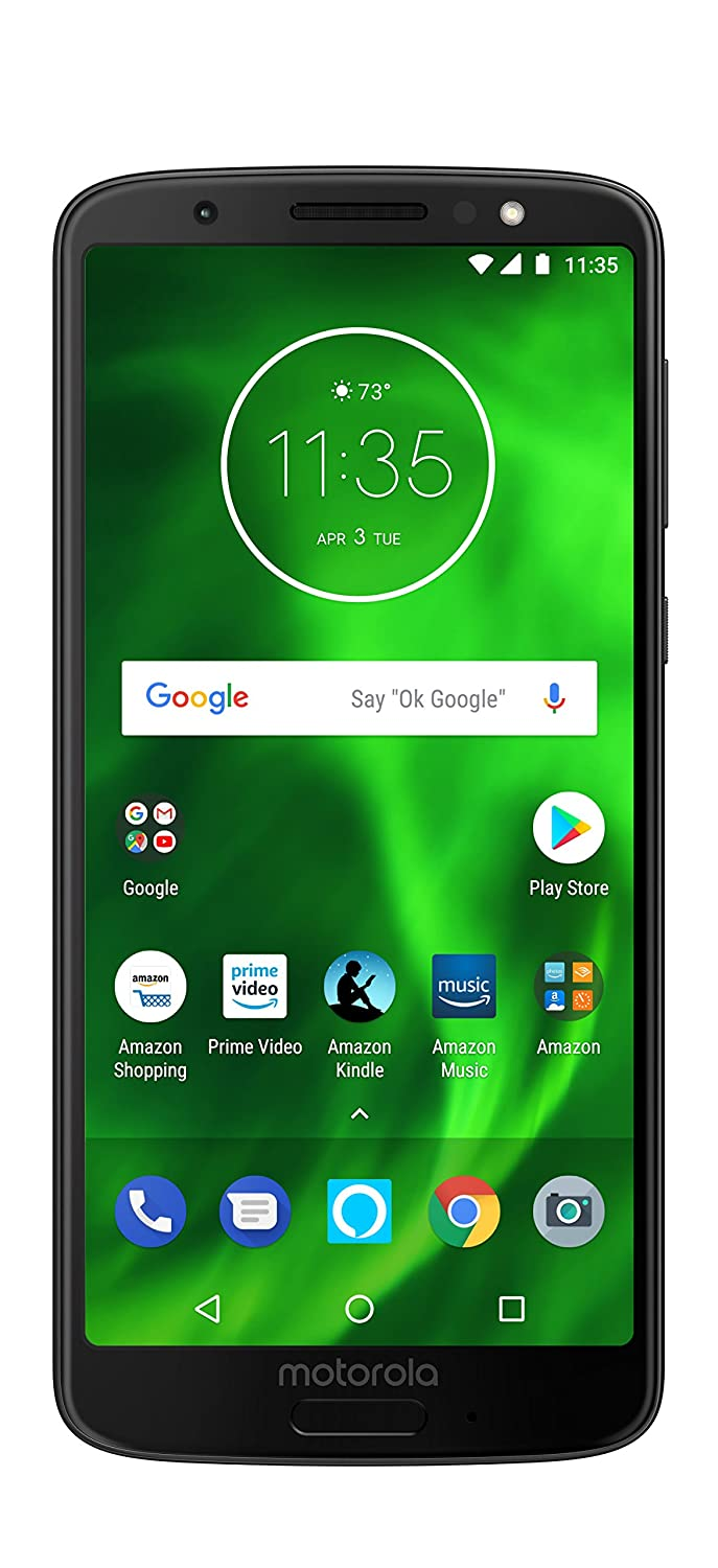 58339708620 Amazon.com  Moto G6 – 32 GB – Unlocked (AT T Sprint T-Mobile Verizon) –  Black - Prime Exclusive Phone  Cell Phones   Accessories