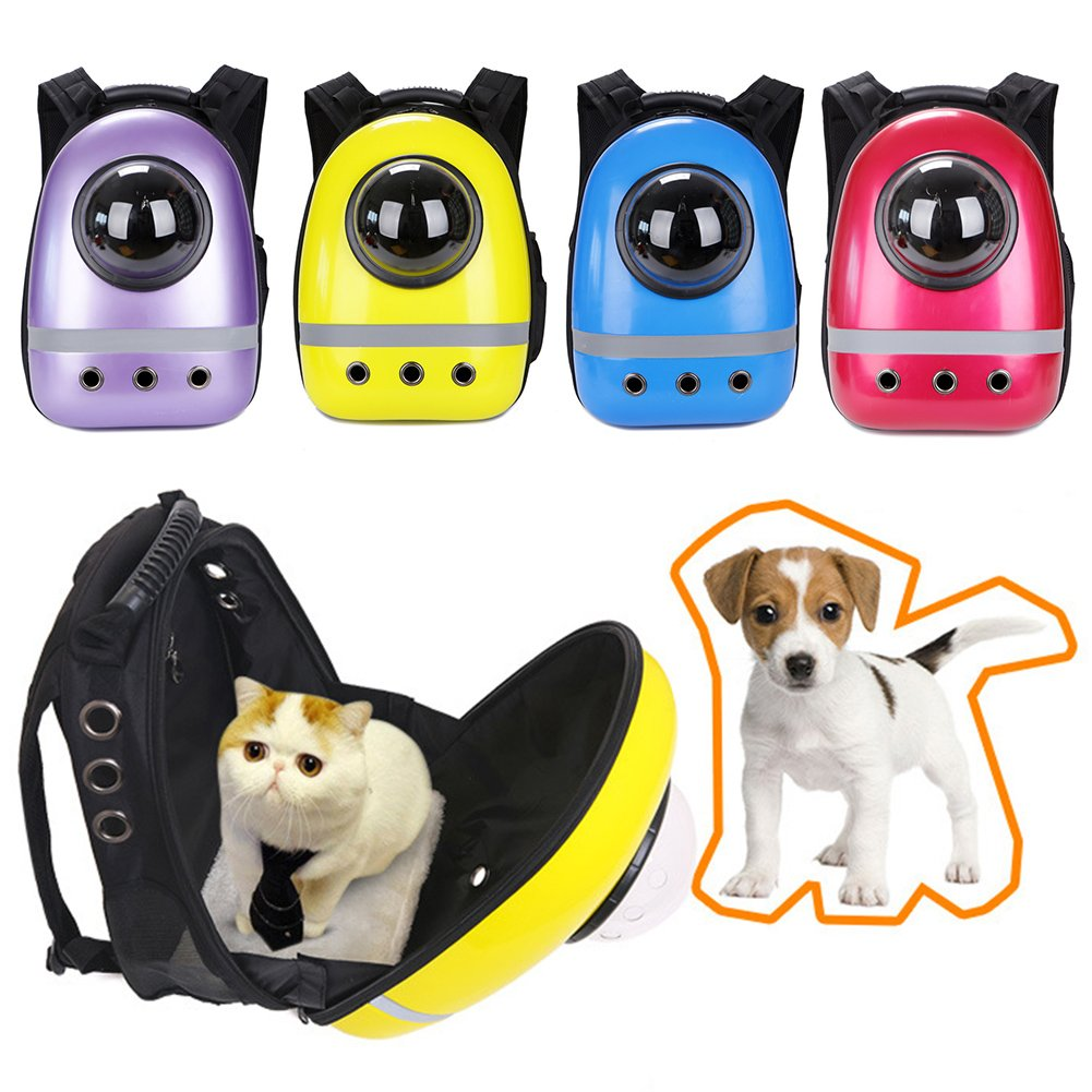 Red bromrefulgenc Pet Travel Capsule for Dog & Cat,Pet Cat Dog Puppy Outdoor Carrier Travel Bag Space Capsule Breathable Backpack Red