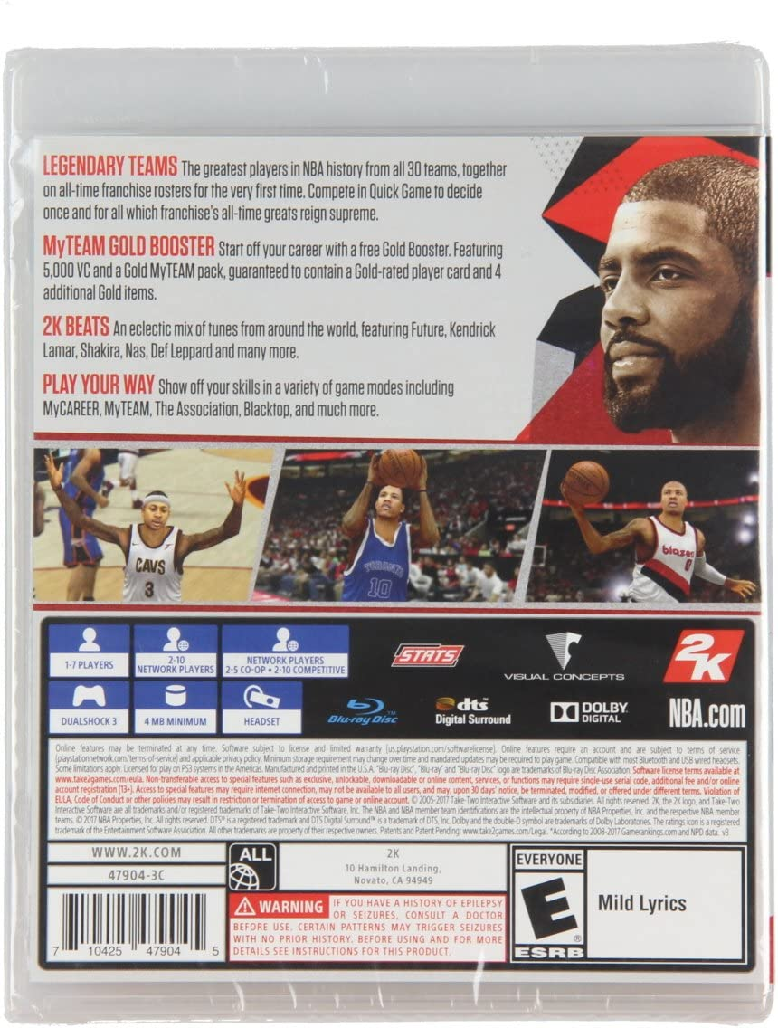 Amazon com: NBA 2K18 PS3: Video Games