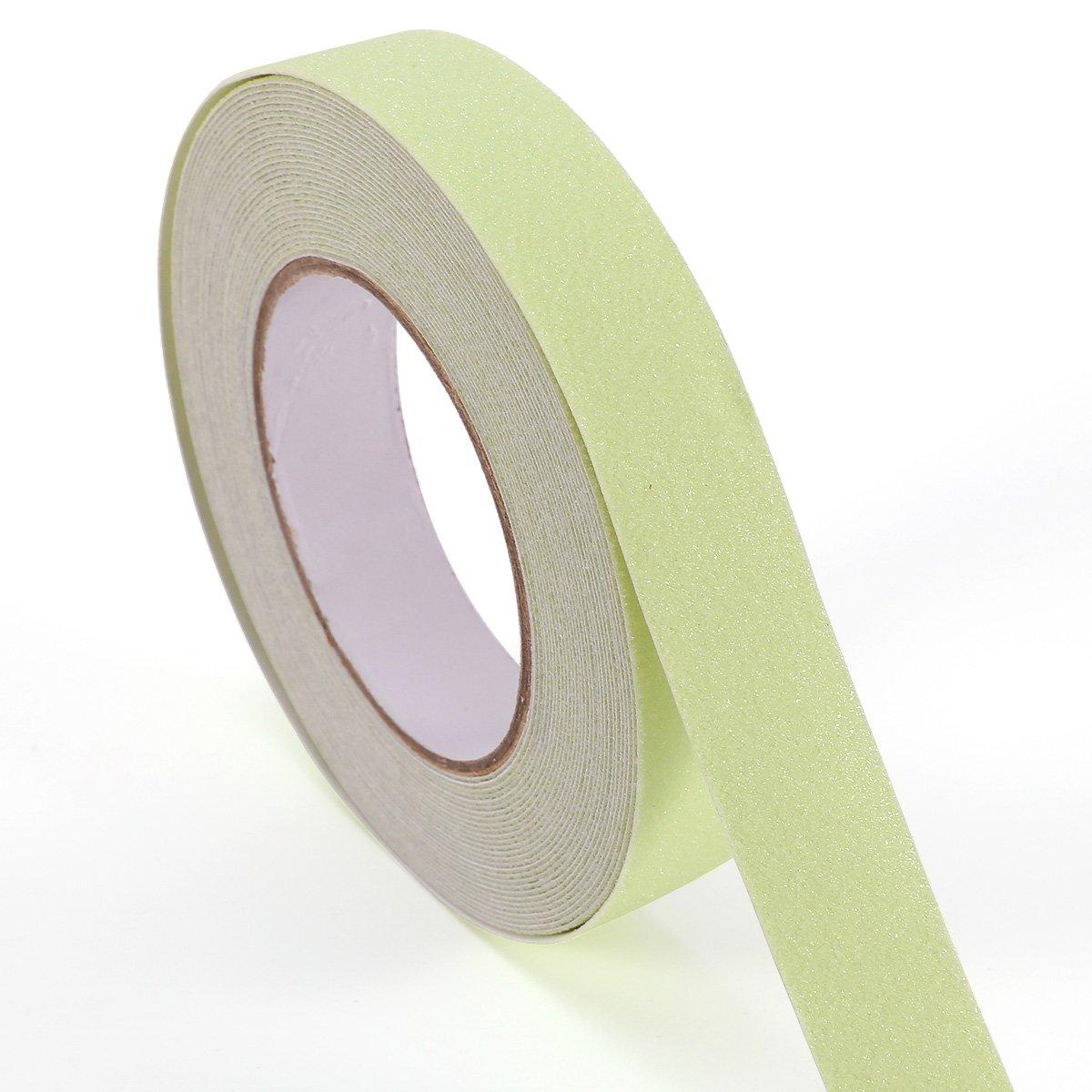 SurePromise 10m x 25mm Phosphor Phosphor Non-Slip Tape Tape Anti Slip Stair Glow-in-the-Dark