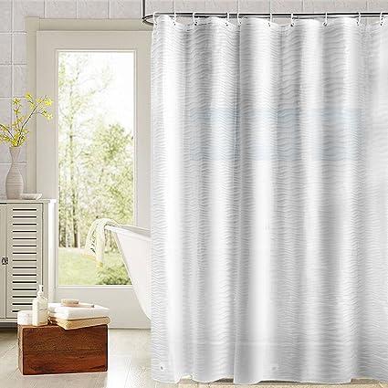 Nontoxic EVA Shower Curtain, Fivanus Mildew Resistant Anti Bacterial Shower  Curtain Liner Waterproof Water