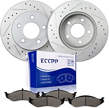 Front and Rear Brake Ceramic Pads For Jeep Grand Cherokee 1993-1998 Performance