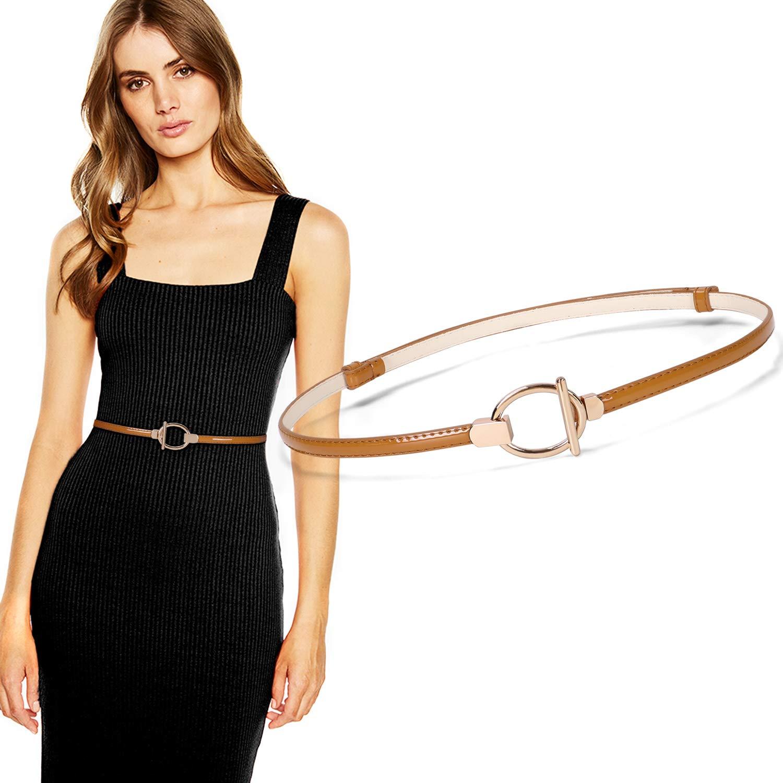 Buy Women Skinny Dress Belt for Ladies Adjustable Thin Belt for