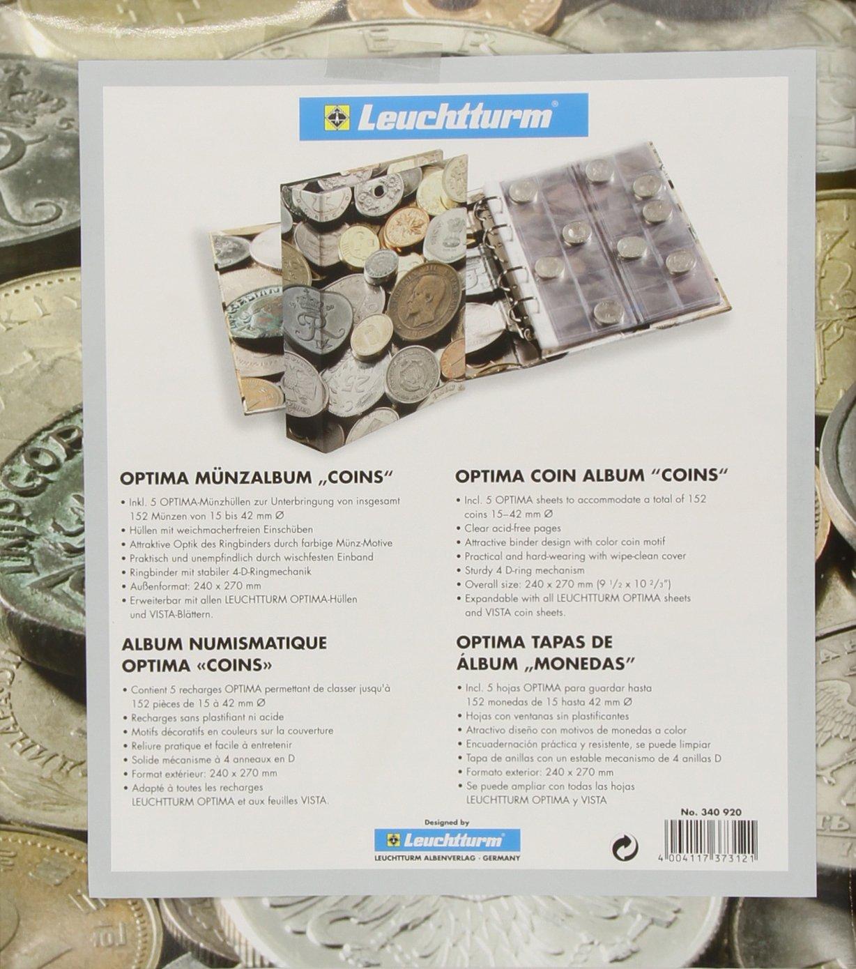 Leuchtturm 340920 Münzalbum Optima Coins Sammelalbum Für Münzen