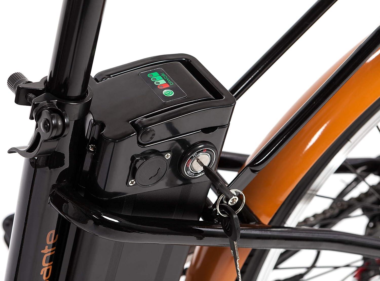 BIWBIK Bicicleta ELECTRICA Mod. GANTE BATERIA Ion Litio 36V12AH (Negro): Amazon.es: Deportes y aire libre
