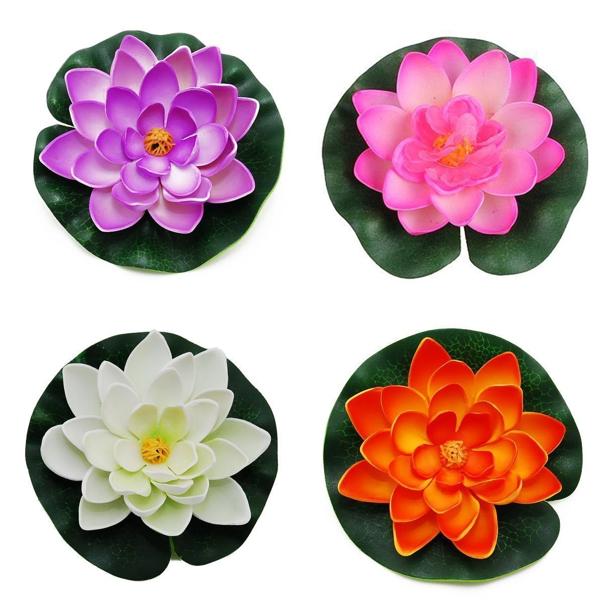 Gemini_mall® Floating Pond Decor Water Lily/Lotus Foam Flower, 10cm/3.94