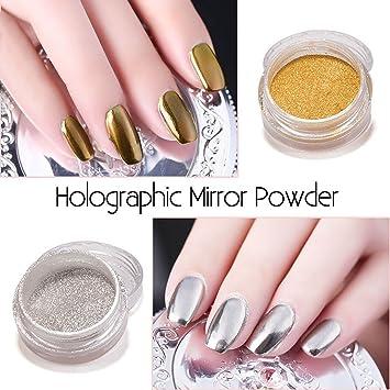 Amazon Sexy Mix Mirror Nail Powder Gold Sliver Chrome Pigment