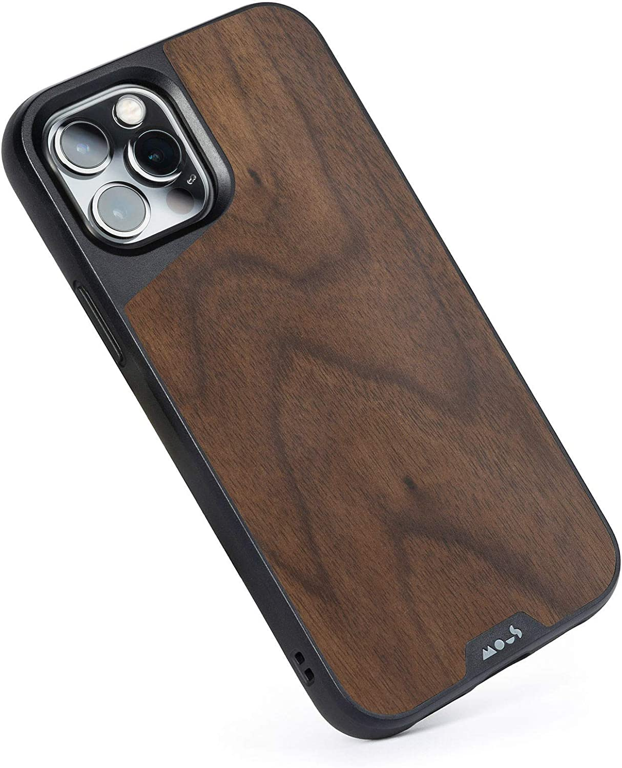 Mous - Protective Case for iPhone 12 Pro Max - Limitless 3.0 - Walnut - No Screen Protector