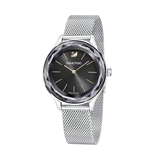 3955e3aaa25b Swarovski Ladies Octea Nova Mesh Black Watch 5430420  Amazon.co.uk  Watches