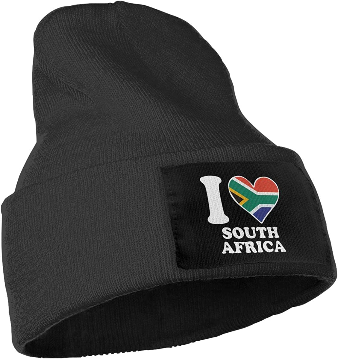 Unisex I Love South Africa South African Flag Heart-1 Outdoor Fashion Knit Beanies Hat Soft Winter Skull Caps