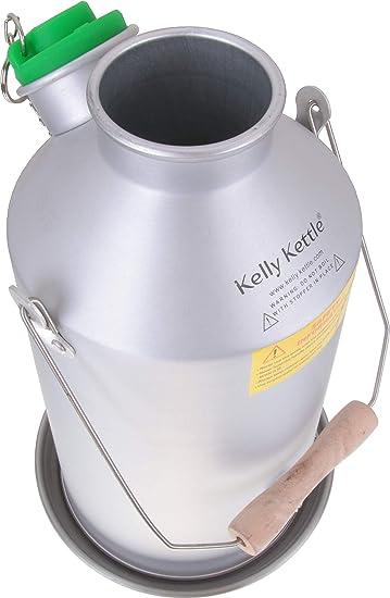 Campamento Kelly Kettle ® 1.6ltr (aluminio) - Camping hervidor de agua y estufa de campamento en uno. Ultra rápido ligera madera estufa alimentada. Baterías, sin Gas, combustible no es gratis! Para pesca,