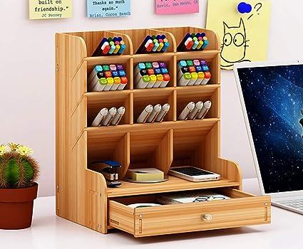 DIY Schreibtisch Organizer Box als Aufbewahrungsbox Briefablage mit Schubladen