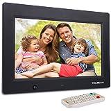 TEC.BEAN 10.1-Zoll 8G HD Digitaler Bilderrahmen mit Eingebautem Speicherung- und Bewegungssensoren, MP3- und Video-Wiedergabe