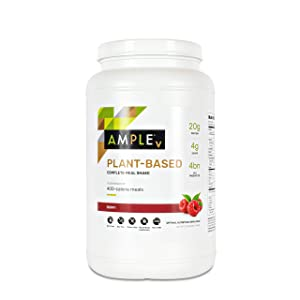 Plant Based Meal Replacement Shake, 30 Servings, Bulk Canister, Made with Natural Real Food Ingredients. Vegan, Dairy-Free Formula