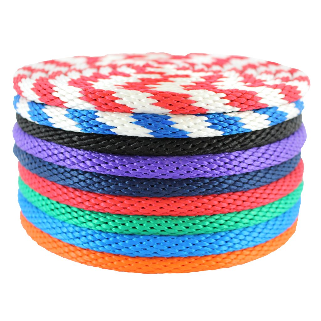 SGT KNOTS MFP Solid Braid Rope / Derby Rope - 1/4-Inch, 5/16-Inch, 3/8-Inch, 1/2-Inch, 5/8-Inch (Blue/White 5/8''x400')