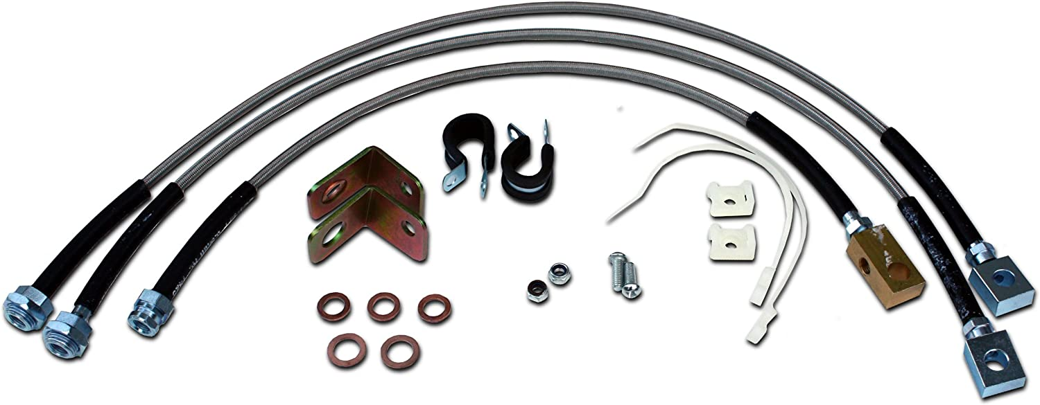 Rough Country Rear Ext Stainless Steel Brake Lines 84-01 Jeep Cherokee XJ