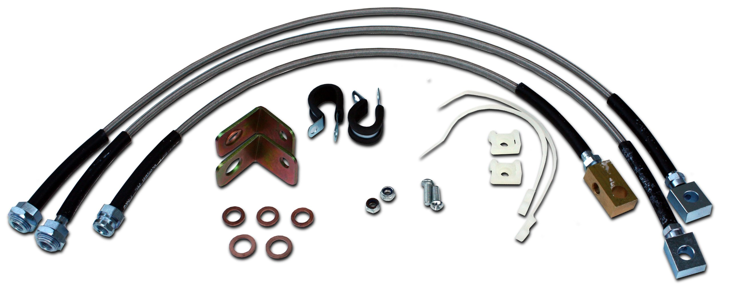 Stainless Steel Extended Brake Line Kit Fits Jeep Wrangler YJ by Rukse