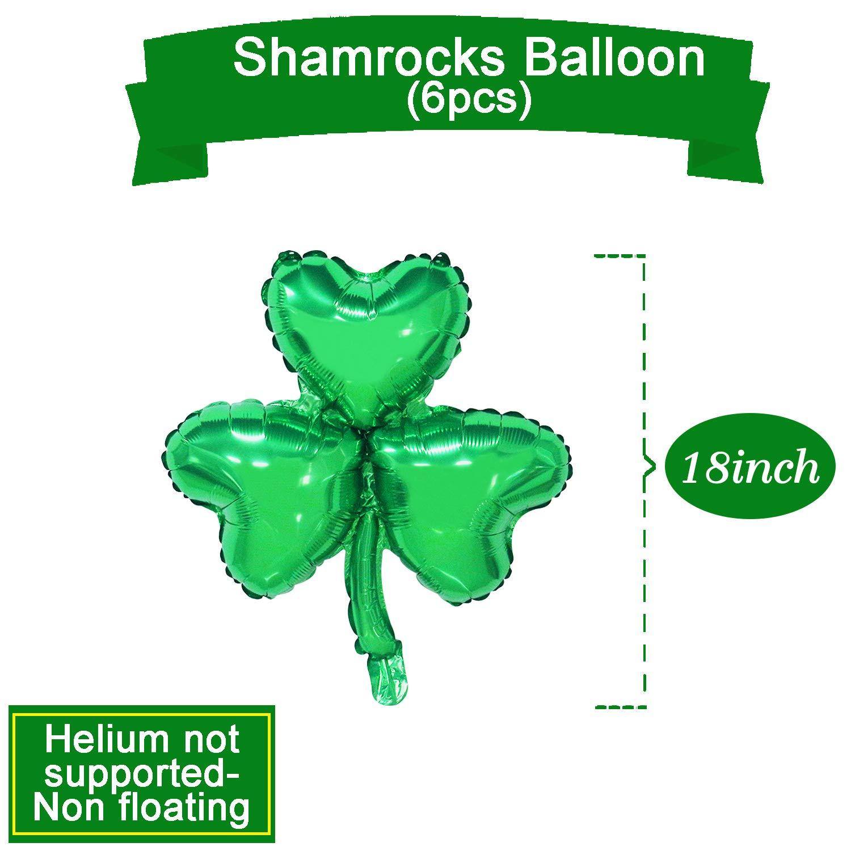 St Patricks Day Balloons Decorations Irish Party Supplies Clover Balloons Garland Banner Shamrock Printed Balloons