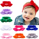 Roll over image to zoom in Itaar baby girl headband headwrap rabbit ear hairband knot bow Stretch Elastic cotton head band 9pcs pack