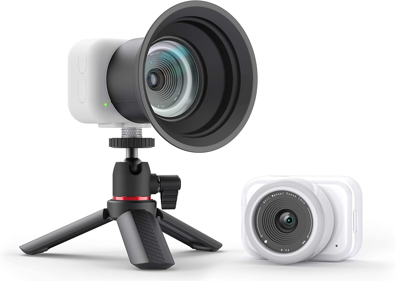 aTLi EON Time-Lapse Video Camera, Full HD Vlogging, Ideal for capturing Nature, Arts Creation, Baby & Pets, Construction, Infrared Photography, w/Protective Accessories iOS App Control (White)
