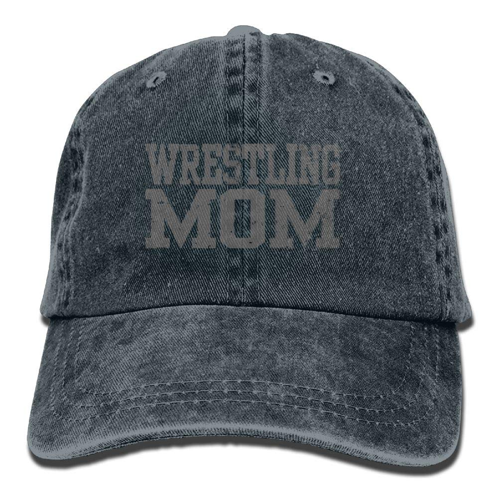 Arsmt Wrestling Mom 3 Denim Hat Adjustable Men's Fitted Baseball Caps by Arsmt