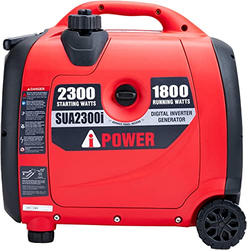 A-iPower SUA2300iV 2300 Watt Portable Inverter Generator Quiet Operation, Lightweight