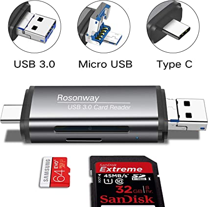 Micro SD USB3.0 TF OTG Type C Adapter Card Reader For Android Tablet PC