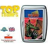 Deluxe TOP TRUMPS CARD GAMES Family Kids Fun Travel Holiday Playing Game Christmas Gift by Lizzy® (Fantasy Retro)