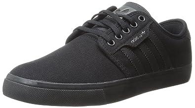 adidas Originals Men's Seeley Lace Up Shoe, BlackBlackDark Cinder, 7