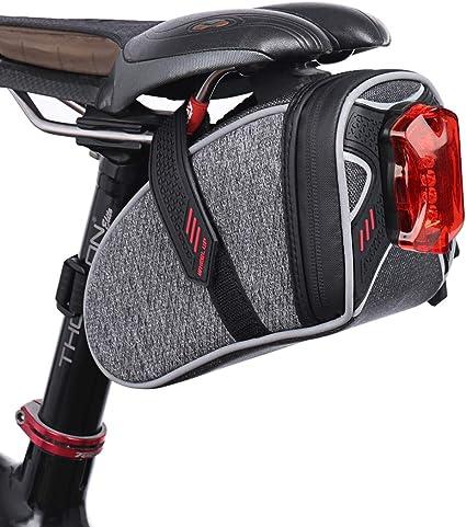 bolsa de almacenamiento para sill/ín de bicicleta bolsa botella de agua kit de herramientas de reparaci/ón de bolsillo pack de ciclismo Bolsa para sill/ín de bicicleta bolsa para bicicleta