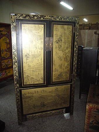 Antiker Chinesischer Schrank Schrank Tibet Asiatika Asien ...