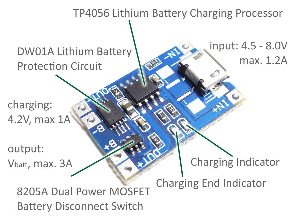 Centiot Tp4056 12a Li Ion Lithium Battery Charging Module Board Overdischarge Cut Off Circuit Electronics Design Charger Tp 4056 Micro Usb With Protection