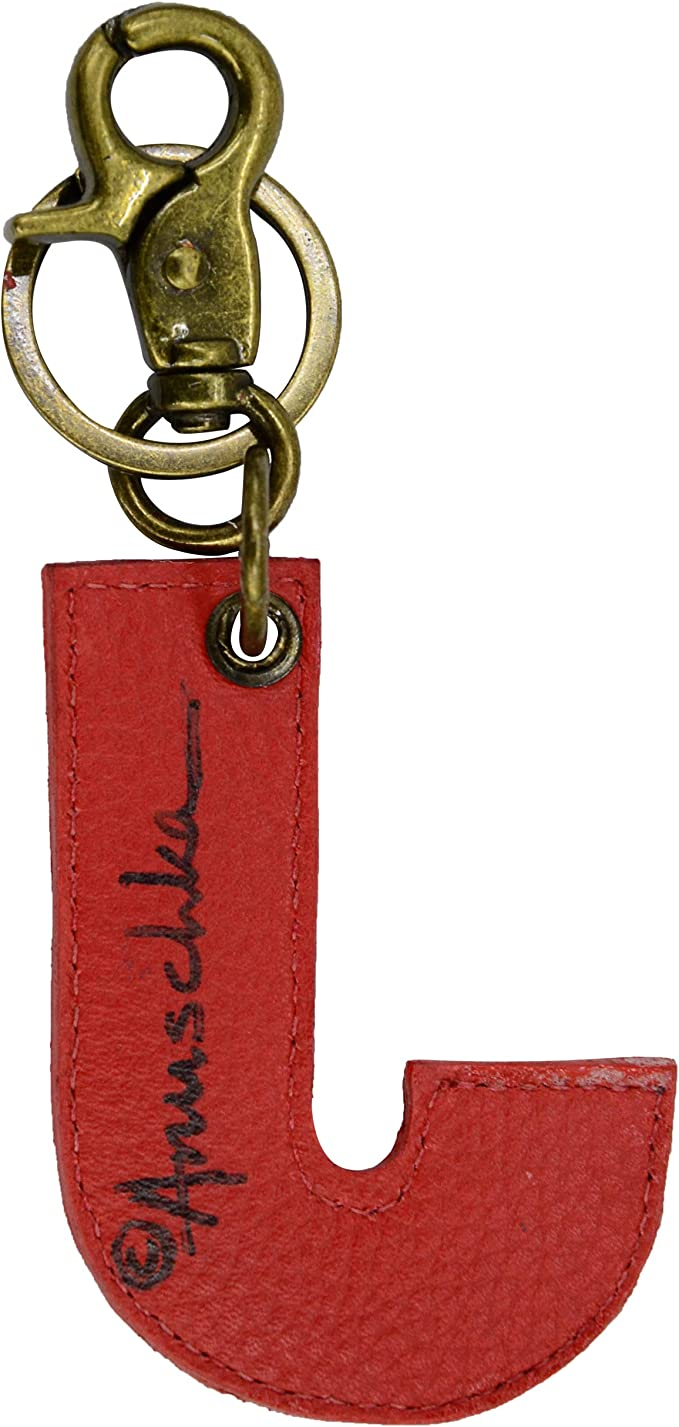 Island Escape K000J Hand Painted Original Artwork Anuschka Painted Leather Keycharm Letter J Keychain