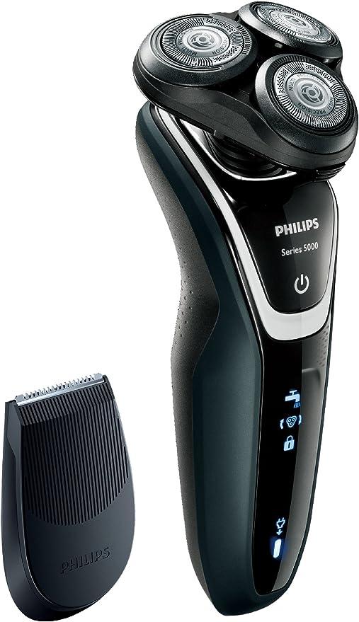 Philips SHAVER Series 5000 S5210/12 - Afeitadora (Máquina de afeitar de rotación, SH50, 2 año(s), Negro, Batería, Ión de litio): Amazon.es: Hogar
