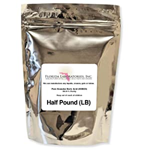 Boric Acid Granular Powder Half Lb.(Half Pound) Create Your own Solution