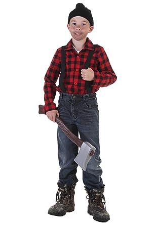 amazon com big boys lumberjack costume toys games