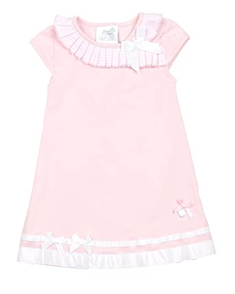 4816194a5 Amazon.com: Le Chic Baby Girl's Jersey Dress, Sizes 12-24M: Clothing