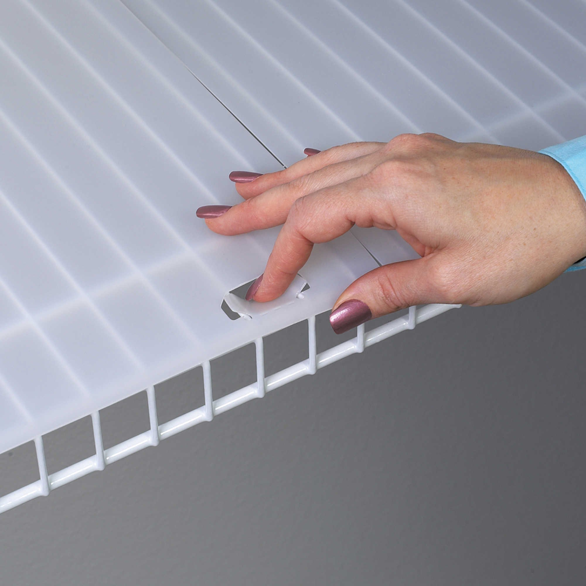 Shelf Liner for 16'' Wire Shelving with Locking Tabs - 10 Foot Roll