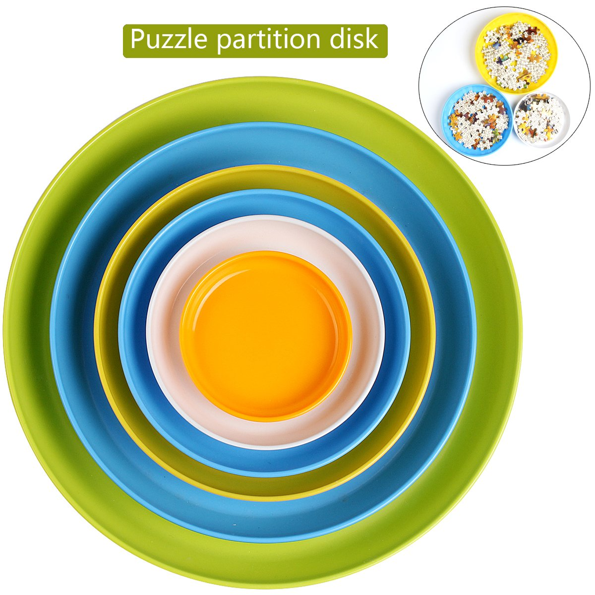 Puzzle Piece Sorter Partition Dish Ingooood Jigsaw Puzzle Storage Sorting Trays Jigsaw Puzzle Accessory Make Puzzle Easy to Play and Better to Save