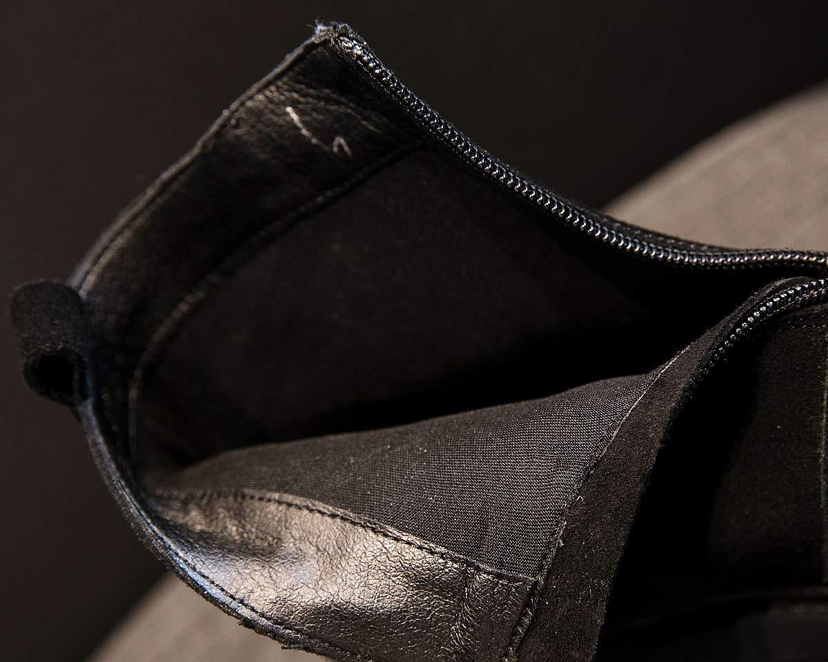 SHANGWU Mädchen-Veloursleder-Flache Plattform-Turnschuh-Schuhe Plus SAMT-Winter-Frauen Baumwollschnee-Stiefel-Einzelne Baumwollschnee-Stiefel-Einzelne Baumwollschnee-Stiefel-Einzelne Stiefel-Frontreißverschluss-Runde Kopf-Rutschfeste warme Martin-Aufladungen 9de6f8