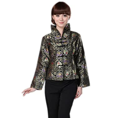 0f639993a8 Amazon.com  YueLian Women Chinese Tang Suit Clothing Top Coat Jacket   Clothing