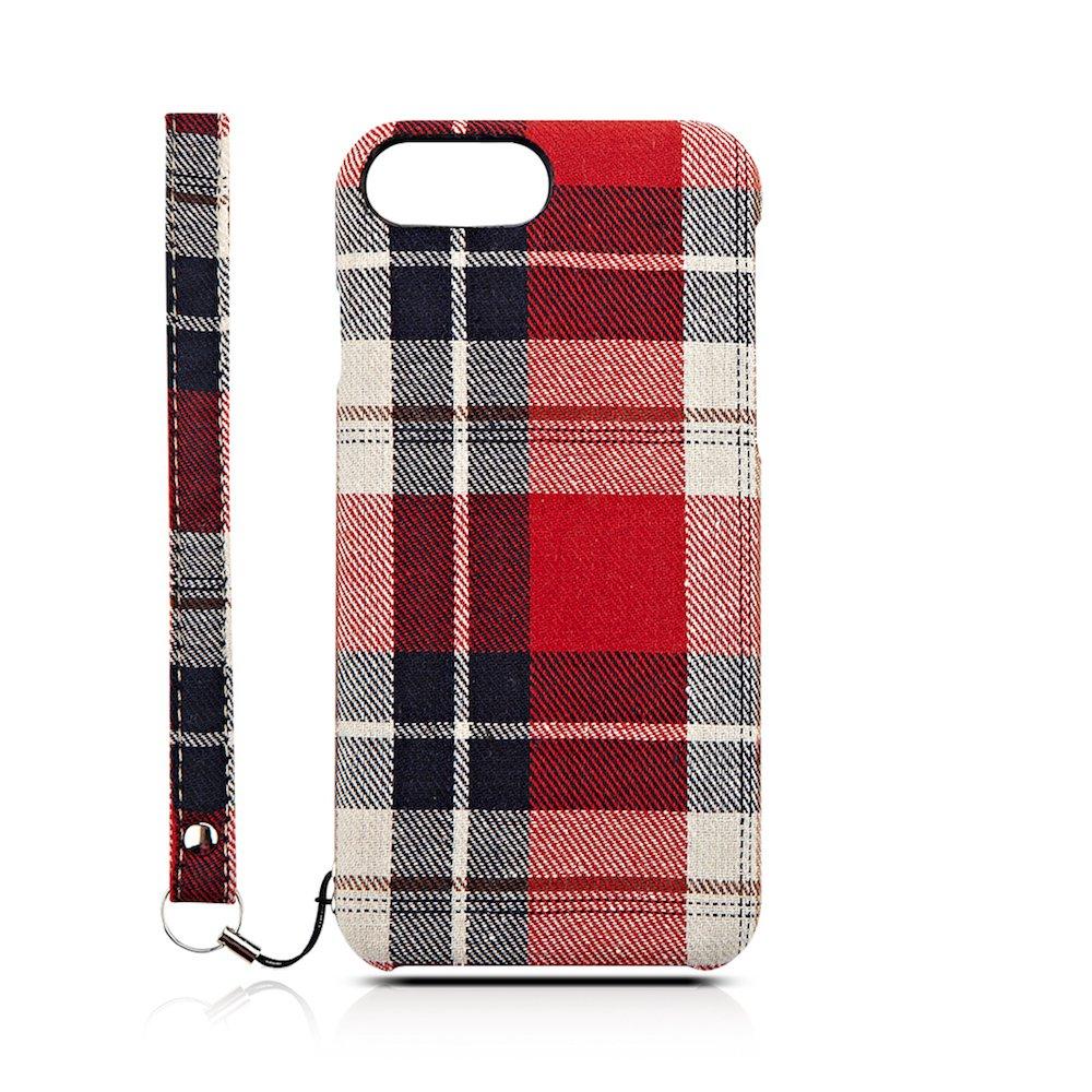 Simplism iPhone 7 Plus/6s Plus/6 Plus [NUNO] ファブリックケース レッドチェック TR-NNIP165-RC