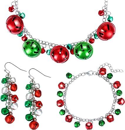 Christmas bracelet and earring set
