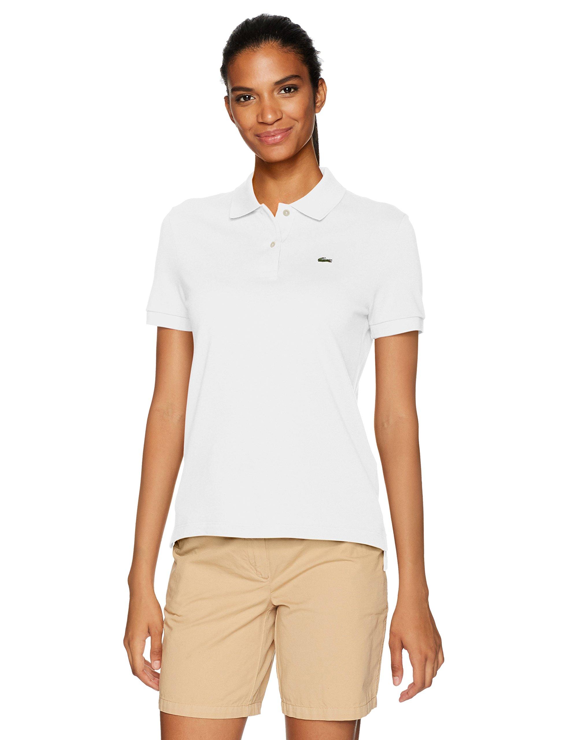 Lacoste Women's Classic Fit Short Sleeve Soft Cotton Petit Piqué Polo, White, 36/US 4