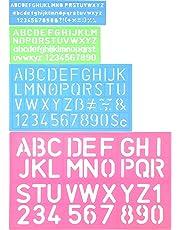 4 Piezas Plantilla de Letras Plantilla de Alfabeto Regla de Manualidad de Número Letra Plantillas Decorativas