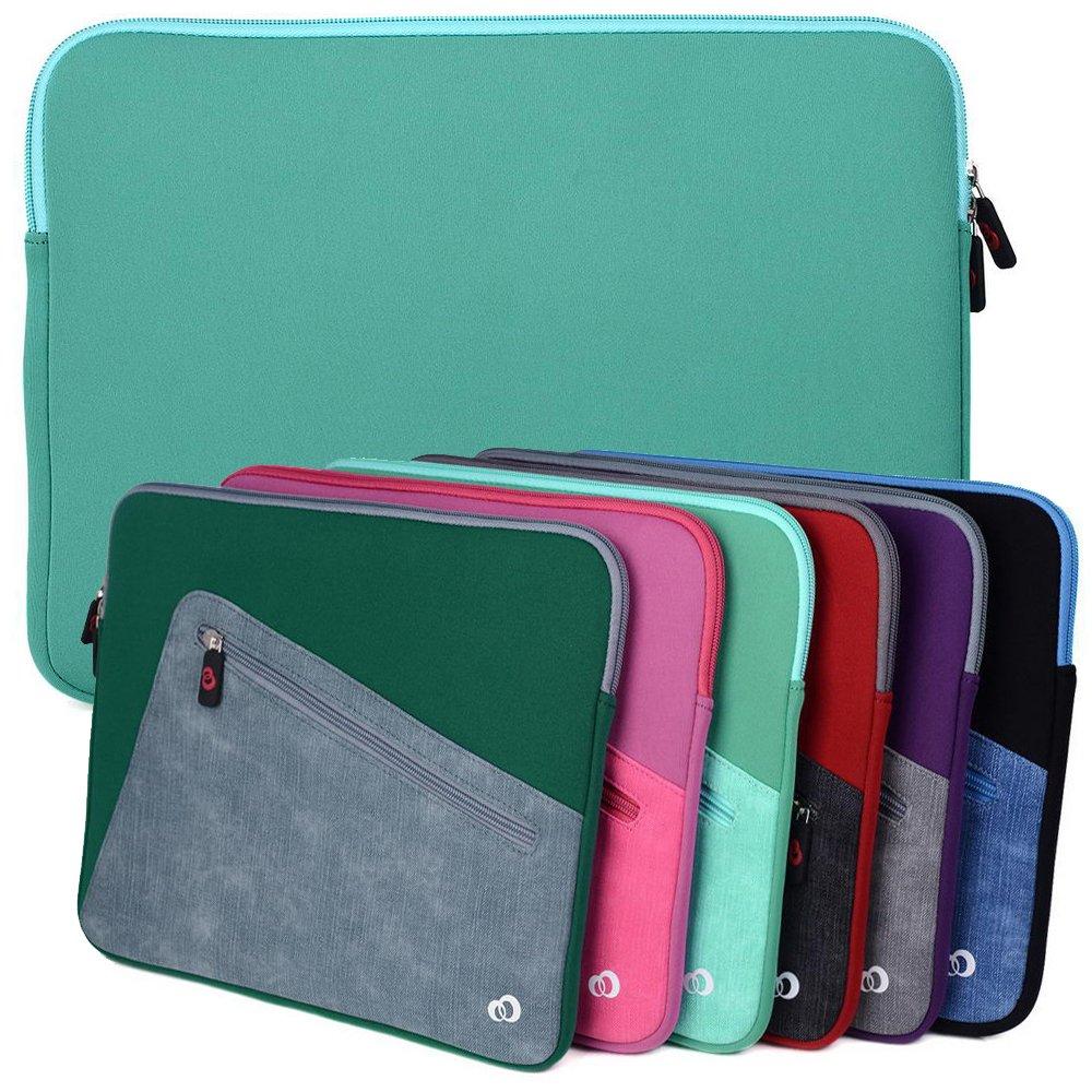 Aqua Green Kroo Checkpoint Friendly Laptop Sleeve fits HP ENVY 13t 13.3, ProBook 430 G4 13.3, Spectre 13-v151nr, Stream 11 Pro G3 11.6 Laptop
