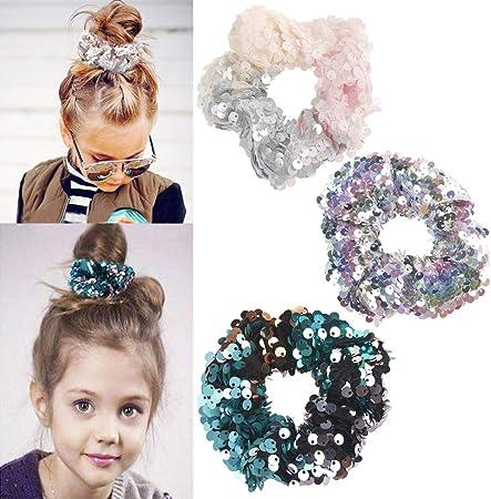 Women Girl Glitter Hair Rope Tie Elastic Scrunchie Ponytail Holder HairBand Gift